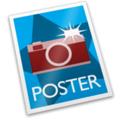 Poster post photos and video to the web icon