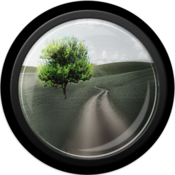 After focus photo background blur bokeh effects icon