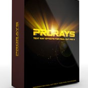 Prorays text ray effects for fcpx icon