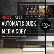 Red giant automatic duck media copy icon