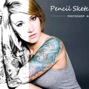 Creative market pencil sketch effect 1247314 icon