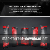Roll up black banner mock up 12648679 icon