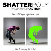 Shatterpoly acciones photoshop icon