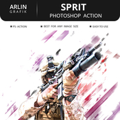Sprit photoshop action icon