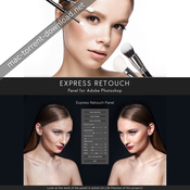 Express retouch panel for adobe photoshop icon