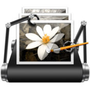 Photo batch process adjust resize and crop tons of images at once icon