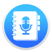 Voice notes voice recorder diary memos icon