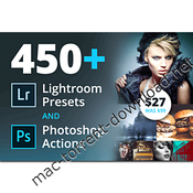 450 lightroom presets and photoshop actions icon