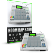 Initial audio boom bap bang drum kit icon