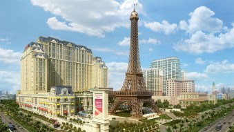 Las Vegas Sands' 3,000-room Parisian Macao (rendering above), which is slated to open during the summer of 2016, will cost an estimated $2.7 billion and will include a half-scale replica of the Eiffel Tower.