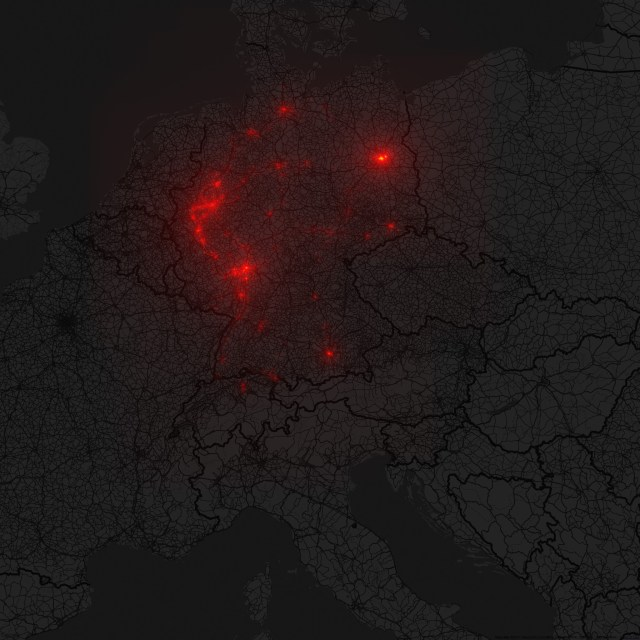 crowdsourced iPhone data from Germany