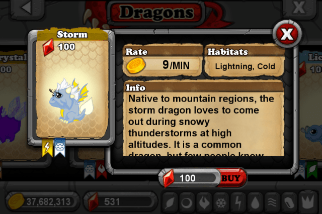 DragonVale STORM Dragon
