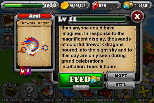DragonVale FIREWORK Dragon