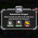 DragonVale QUICKSILVER Dragon