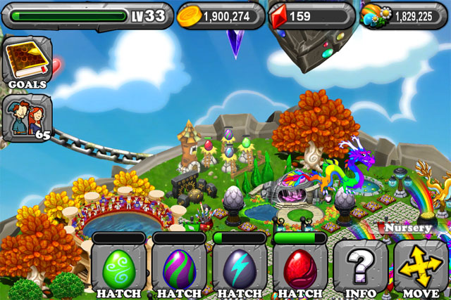 DragonVale Pollen Dragon Egg