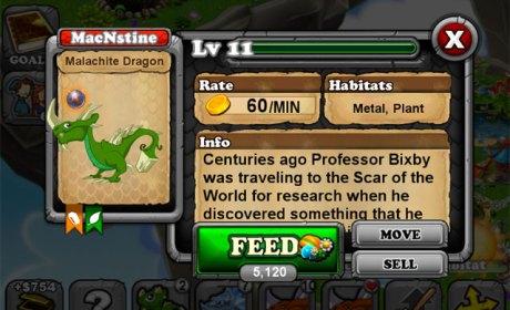 DragonVale Malachite Dragon