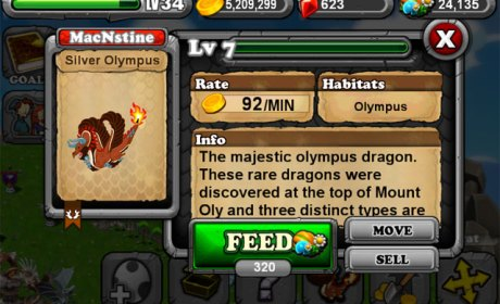 DragonVale OLYMPIC SILVER Dragon