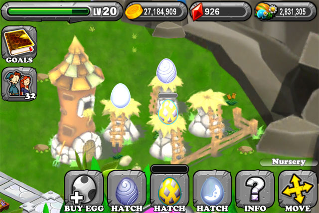 The 1st Egg is the DragonVale Silver Dragon Egg