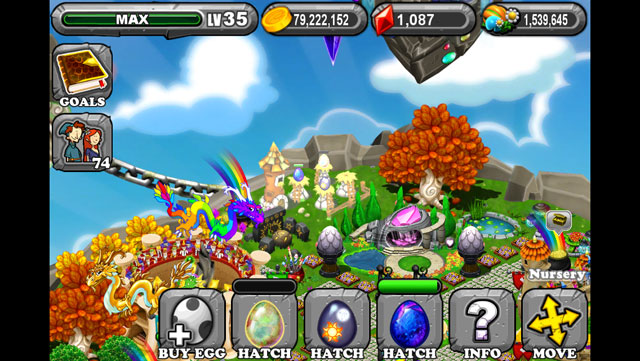 The 1st Egg is the DragonVale Opal Dragon Egg