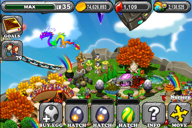 DragonVale Ash Dragon Egg