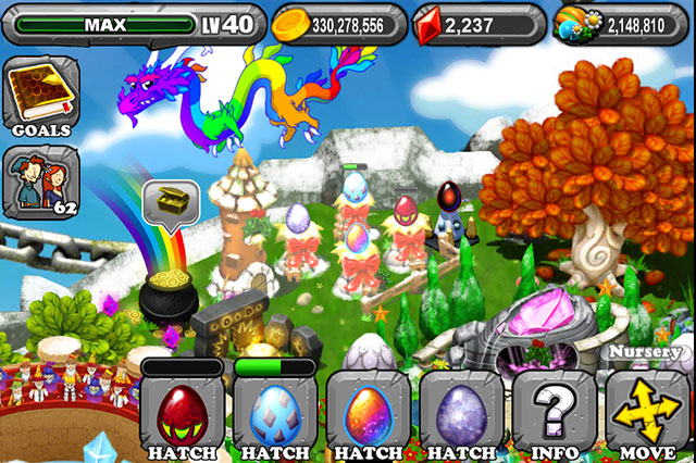 The 1st Egg is the Dragonvale Garnet Dragon Egg