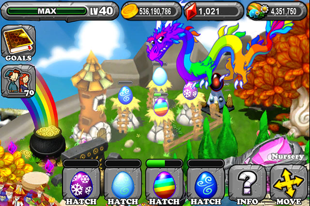 Dragonvale Blizzard Dragon Egg