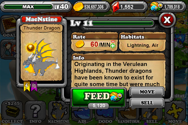 Dragonvale Thunder Dragon
