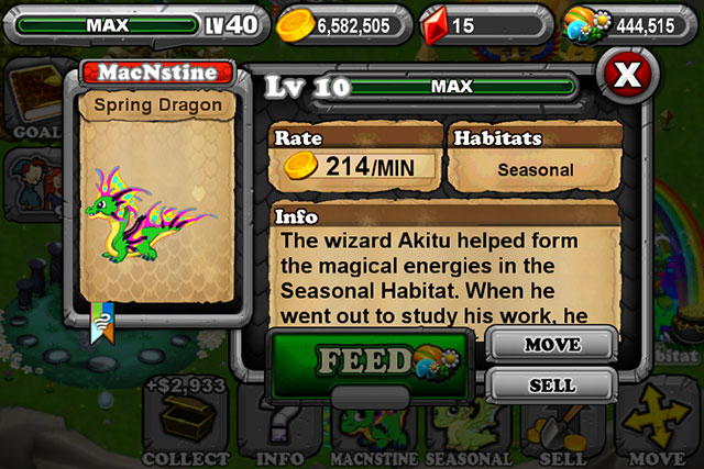 Dragonvale Spring Dragon