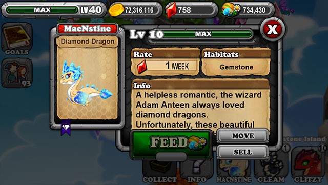Dragonvale Diamond Dragon Egg