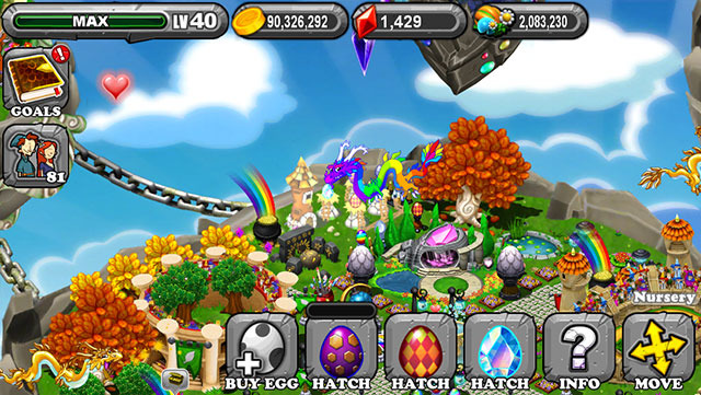 The 1st Egg is the Dragonvale Meteor Dragon Egg