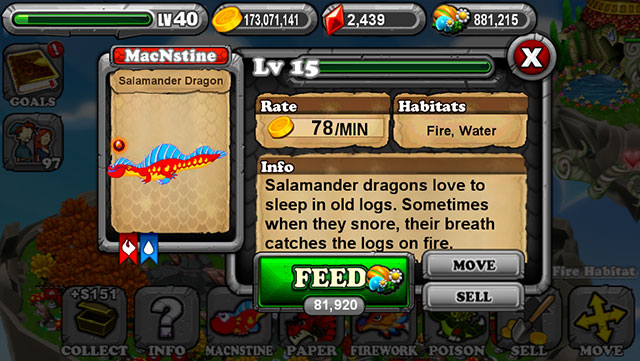 Dragonvale Salamander Dragon
