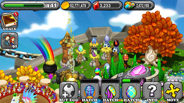 The 1st Egg is the Dragonvale Summer Dragon