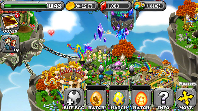 The 1st Egg is the Dragonvale Amber Dragon Egg