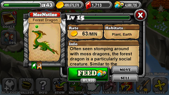 Dragonvale Forest Dragon