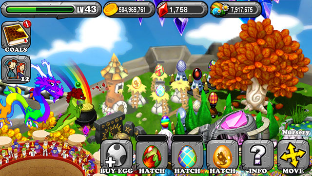 The 1st Egg is the Dragonvale Autumn Dragon Egg