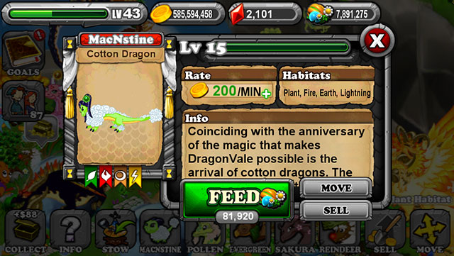 Dragonvale Cotton Dragon
