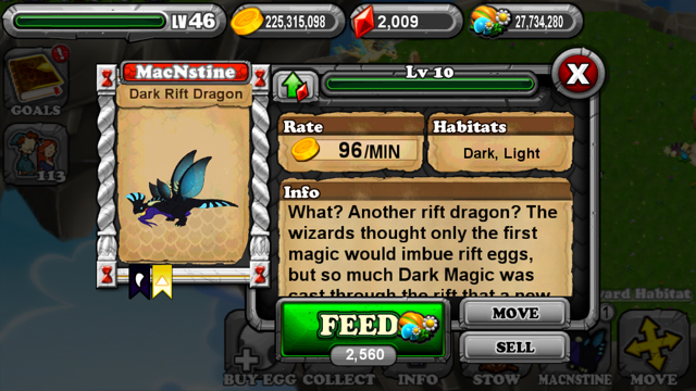 DragonVale DarkRift Dragon