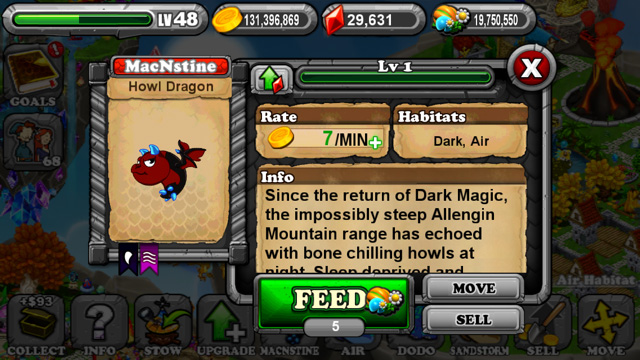 Dragonvale Howl Dragon
