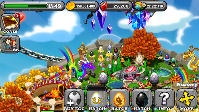 Dragonvale Snowy Gold Olympus Dragon Egg