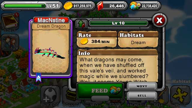 Dragonvale Dream Dragon