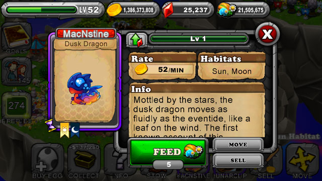 DragonVale Dusk Dragon 1