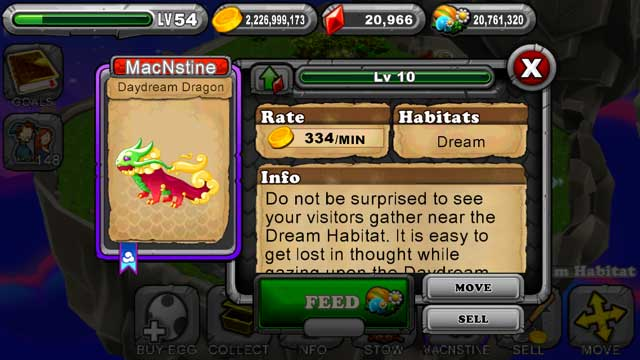DragonVale Daydream Dragon