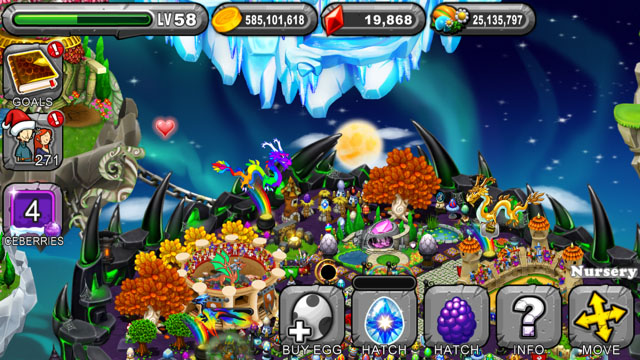 Dragonvale Snowflake Dragon Egg