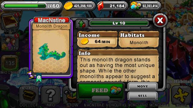 DragonVale Monolith Dragon 4