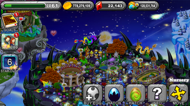 DragonVale Midnight Dragon egg