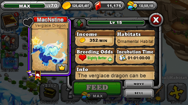 Dragonvale Verglace Dragon
