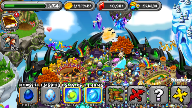 DragonVale Azurite Dragon Egg