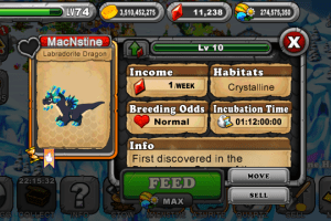 Dragonvale Labradorite Dragon