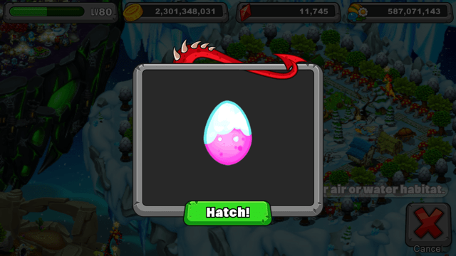 Dragonvale Flurry Dragon Egg