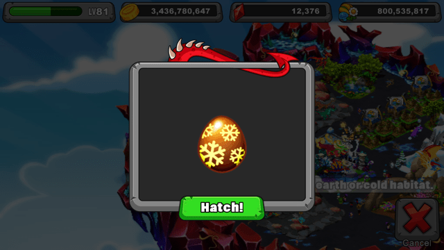 Dragonvale Permafrost Dragon Egg
